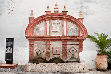 16th century stone water fountain and trough.