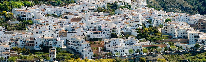Frigiliana set in the hills.