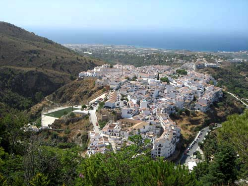 A spectacular view of Frigiliana.